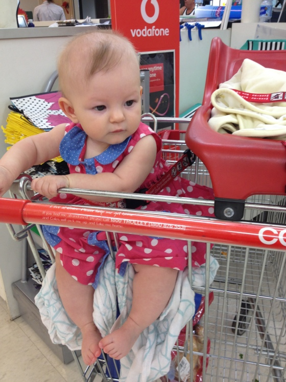 Ayla in the trolley